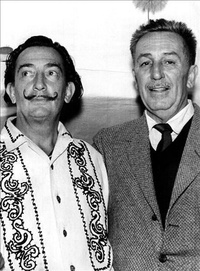 Figure 1: Walt Disney and Salvador Dali, during production of Fantasia